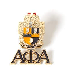 Alpha Phi Alpha Jewelry 3 D Color Shield Pin w/ drop let