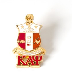 Kappa Alpha Psi Jewelry 3D Color Shield Pin w/ drop letter