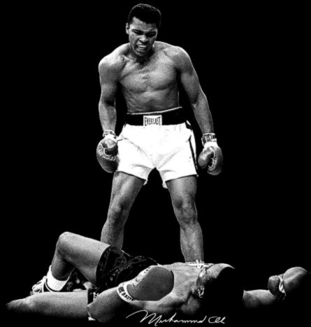 AFRICAN AMERICAN T SHIRT MUHAMMAD ALI KNOCKING OUT SONNY LISTON
