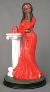 Woman in Red - Figurine