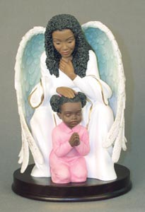 Guardian Angel Praying with Girl