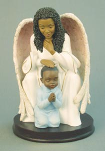 Guardian Angel Praying with Boy