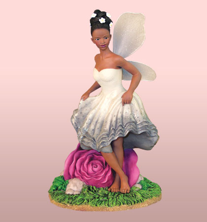Fairy with Rose - Figurine