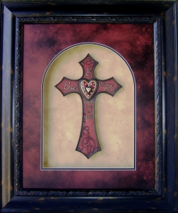 3 Dimensional Art-Cross - Love