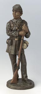 Black Civil War Soldier figurine