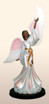 'Black Angels Figurines-Heavenly Visions-Peace unto you'