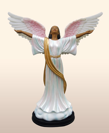 'Black Angel Figurines-Heavenly Visions-Glory to God!'