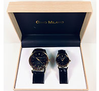 His And Her Watch Gift Set-7303-GOBK