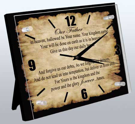 Religious Clock: Lord's Prayer