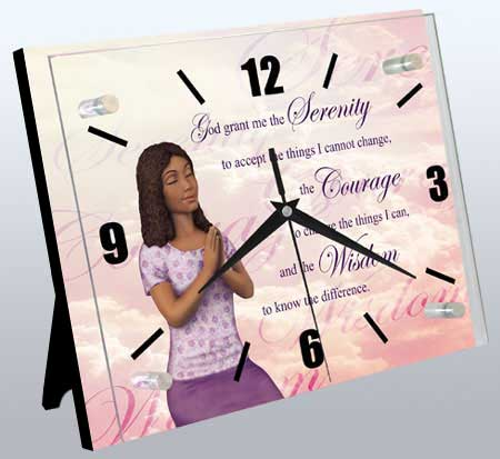 Religious Clock: Serenity Prayer AA