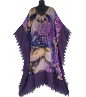'AFRICAN BEADED KAFTAN-EXOTIC PURPLE'