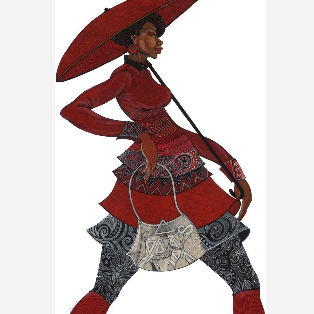 Charles Bibbs The Red Umbrella II