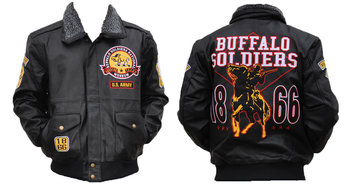 Buffalo Soldiers Leather Jacket