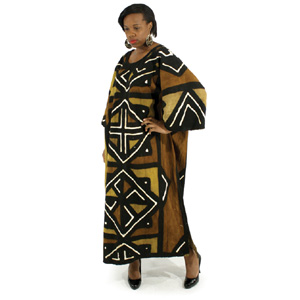 'African  Mudstick Full Length Dress'