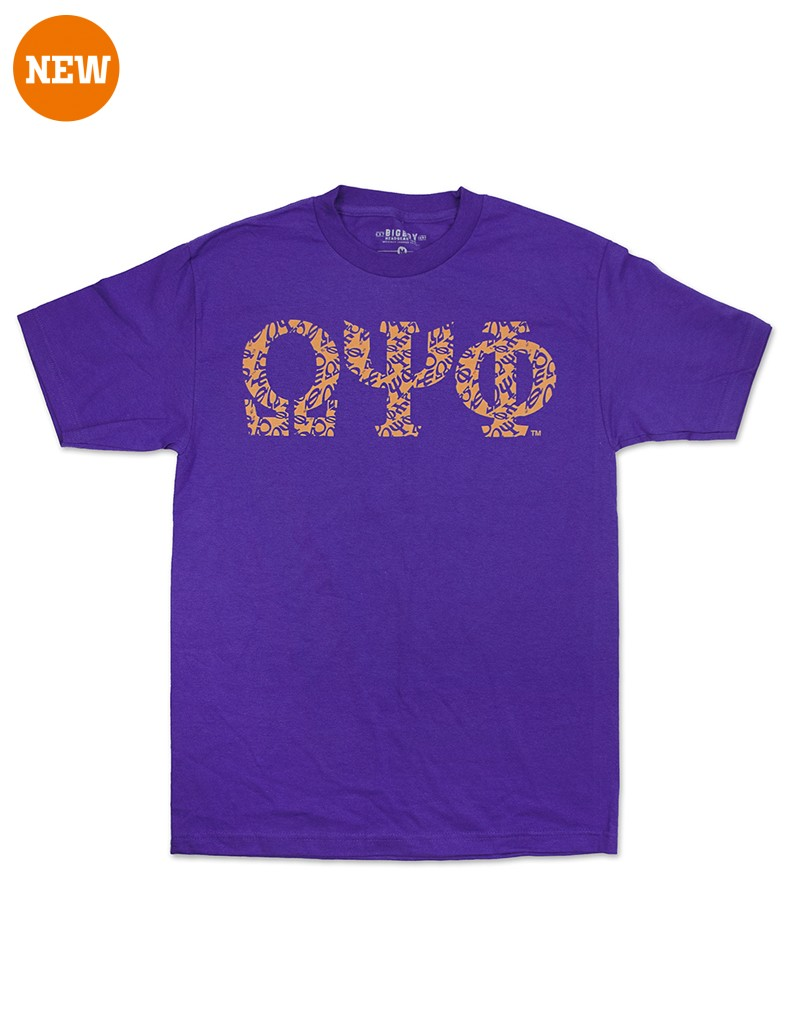 Omega Psi Phi apparel-Graphic Tee-PUR
