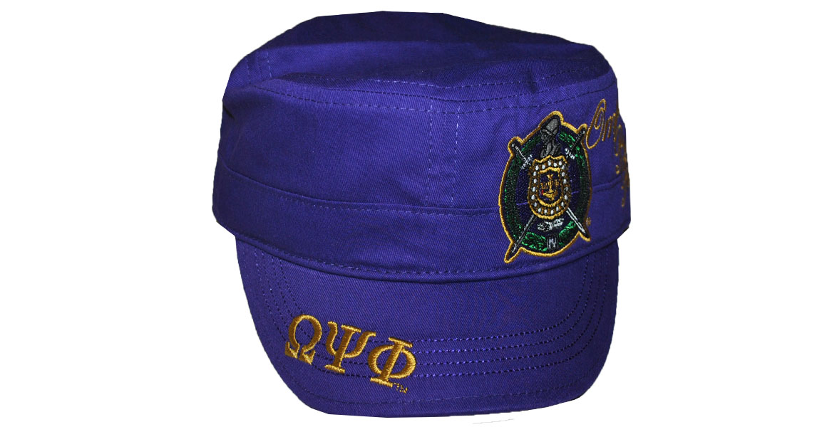 Omega Psi Phi accessory captain cap