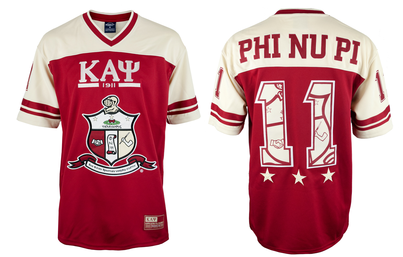 Kappa Alpha Psi apparel Football Jersey