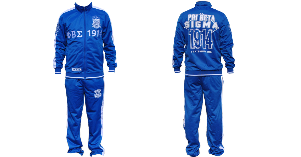 Phi beta sigma apparel jogging suit
