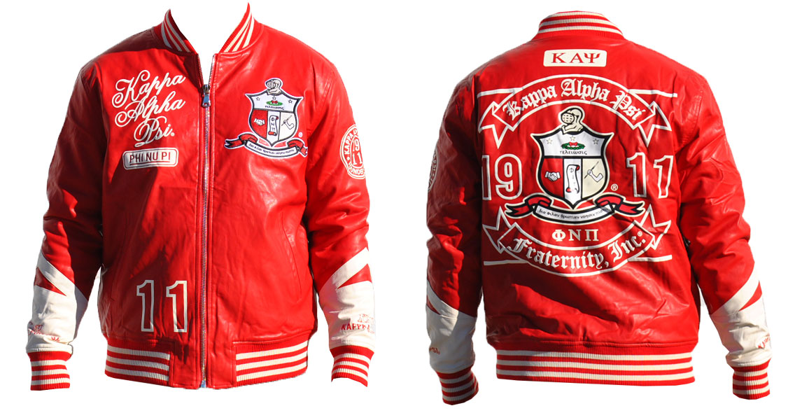Kappa Alpha Psi apparel Leather Jacket