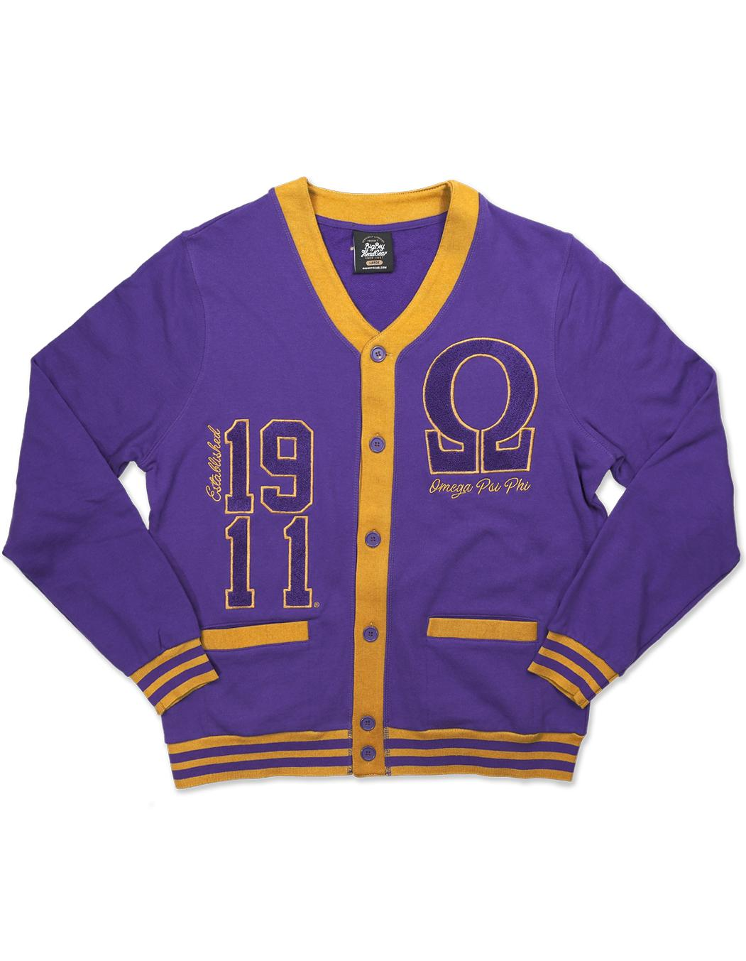 Omega Psi Phi apparel lightweight cardigan