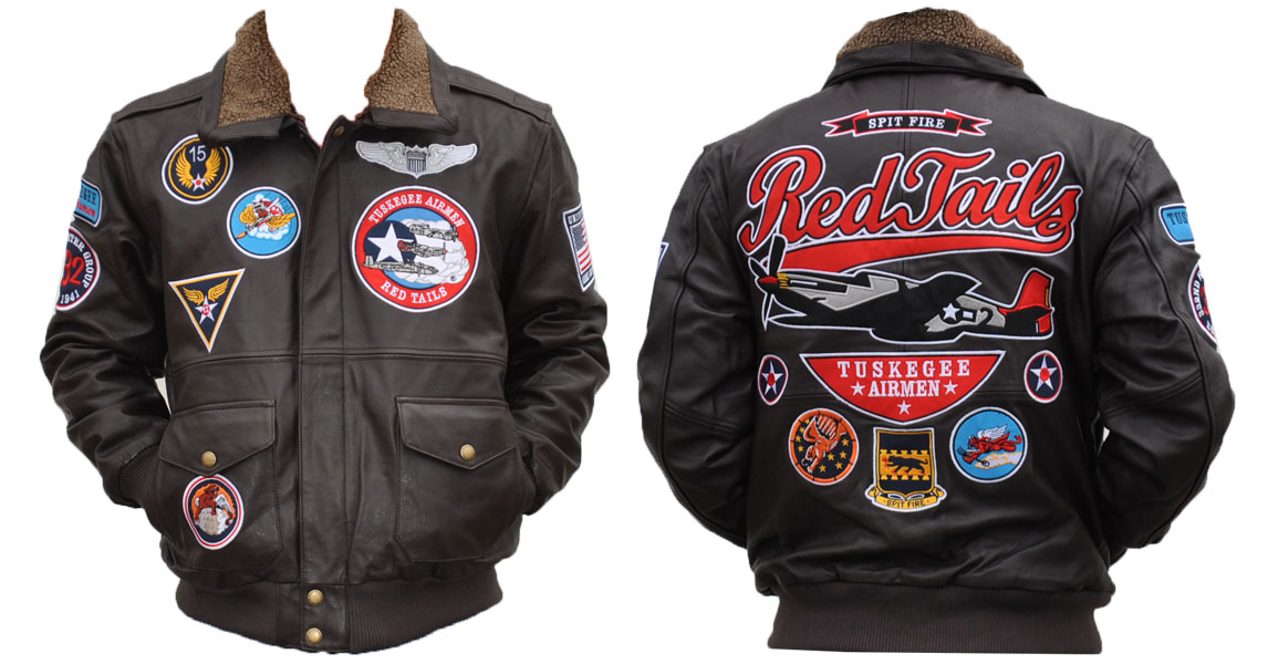 Tuskegee Airmen apparel - Leather Jacket