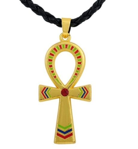 African Ankh Necklace accent colors