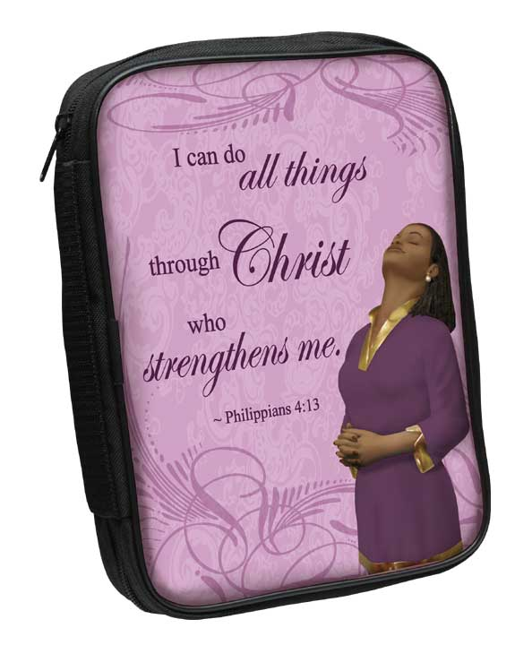 Bible Cover: Phil 4:13/Purple