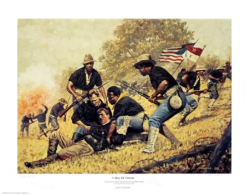 A Day of Honor - Black Art Print