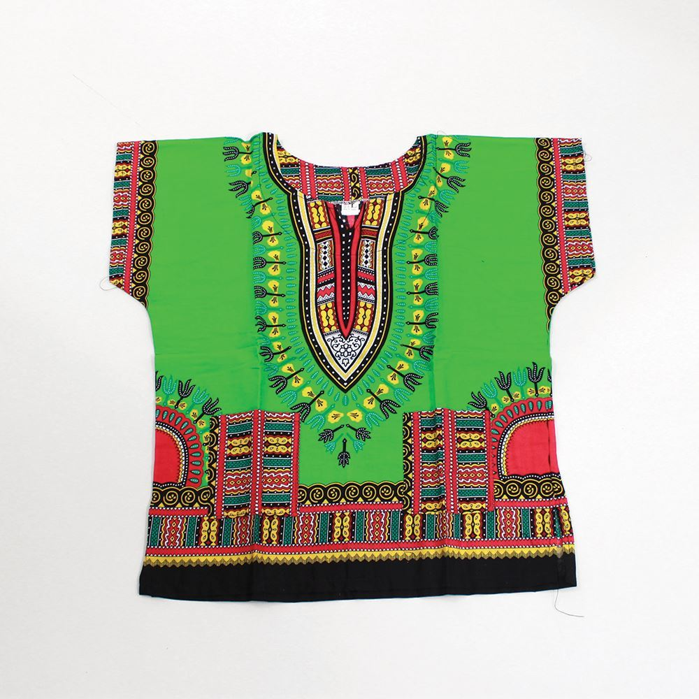 African Children's Dashiki LIME - SMALL