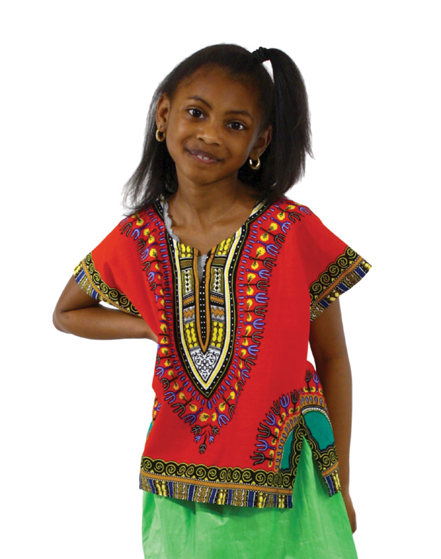 Children\'s Dashiki RED - SMALL