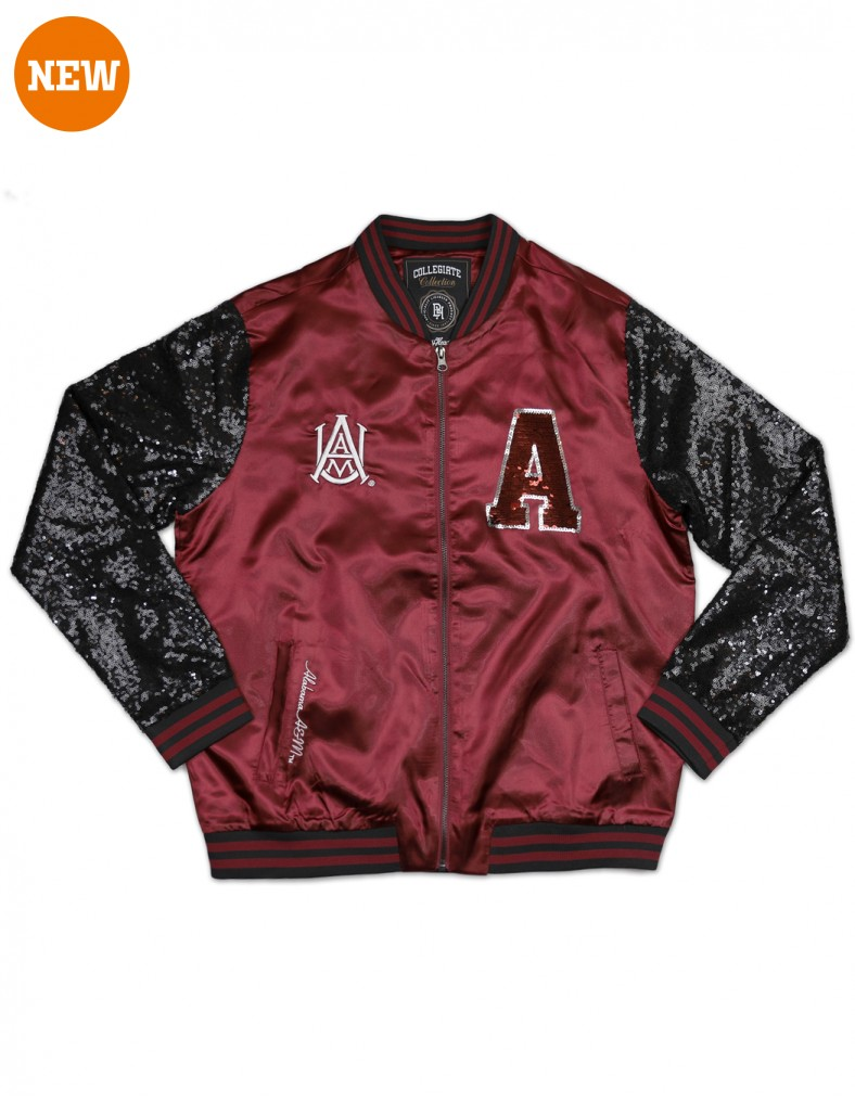 Alabama A & M University Sequins Satin Jacket