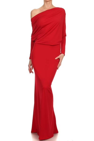 """All Eyes On Me Collection-full length maxi dress-red"""