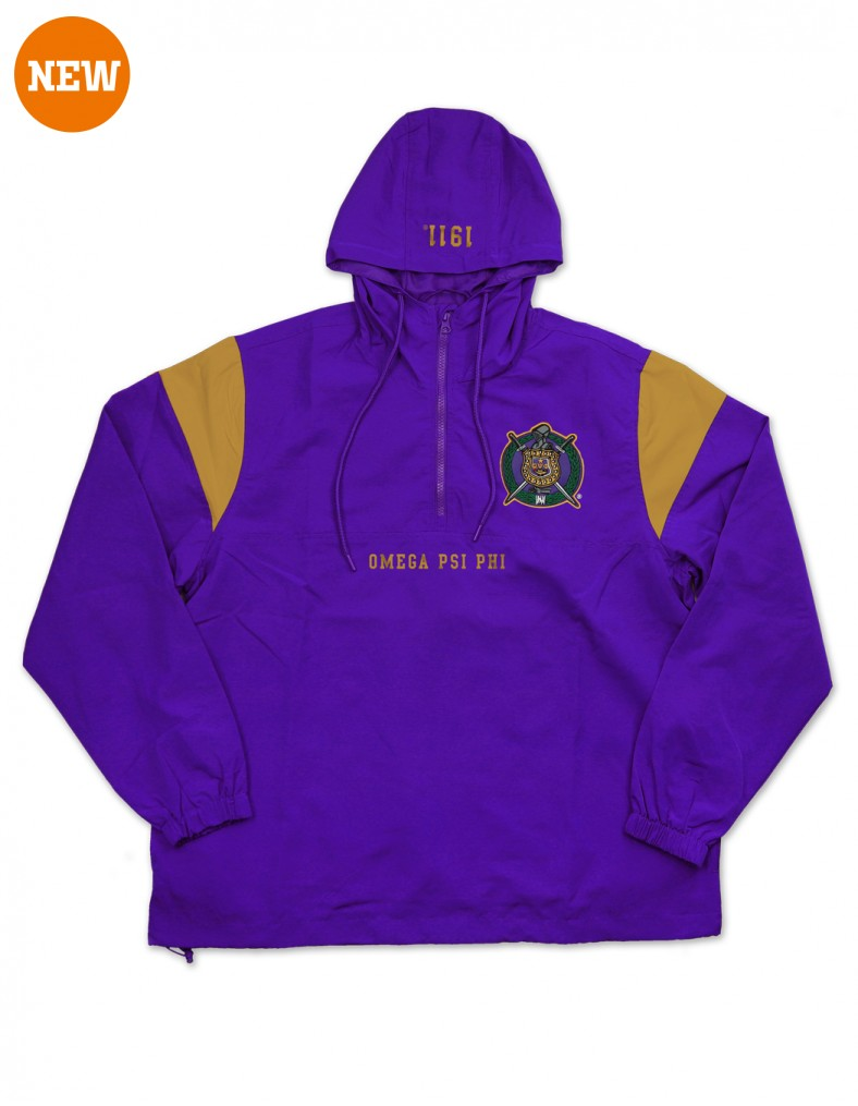 Omega Psi Phi apparel Anorak Jacket