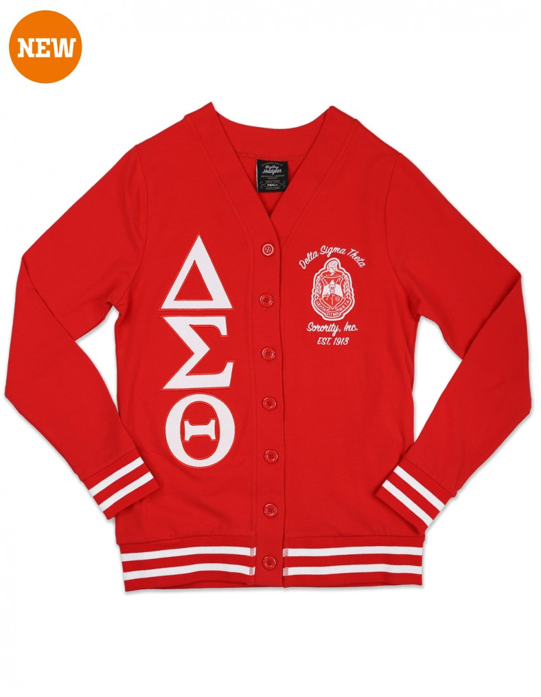 Delta Sigma Theta Apparel Cardigan Red