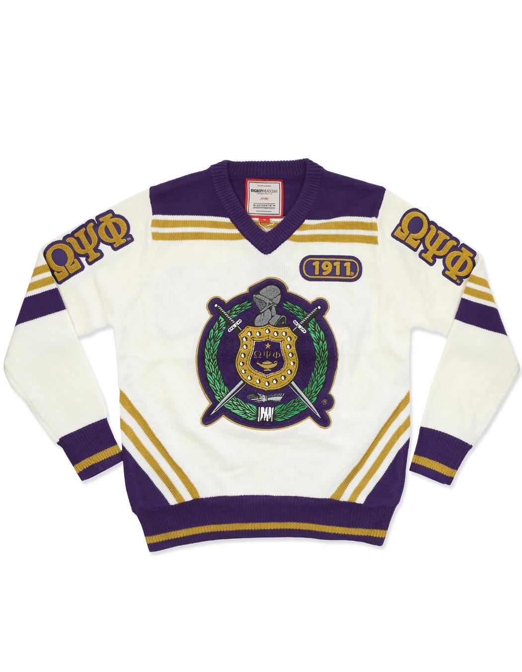 Omega Psi Phi apparel Sweater V neck white