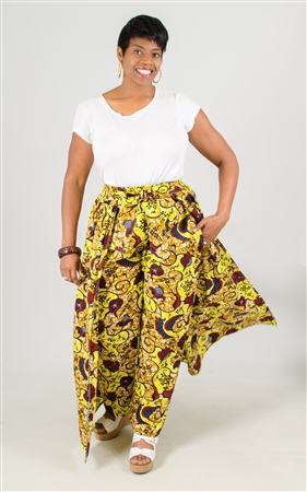 Authentic African Print Plus Size Pant