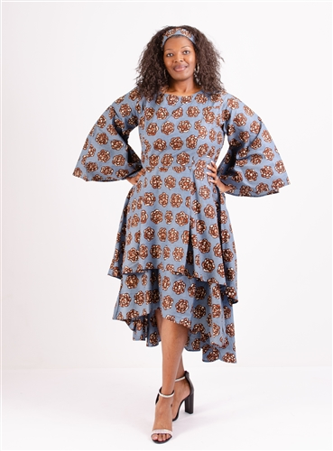 Authentic African Print Plus Size Dress