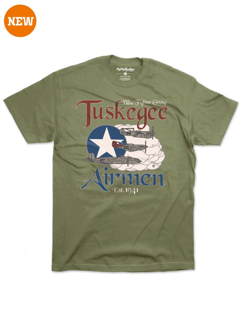 Tuskegee Airmen apparel T Shirt Olive Green