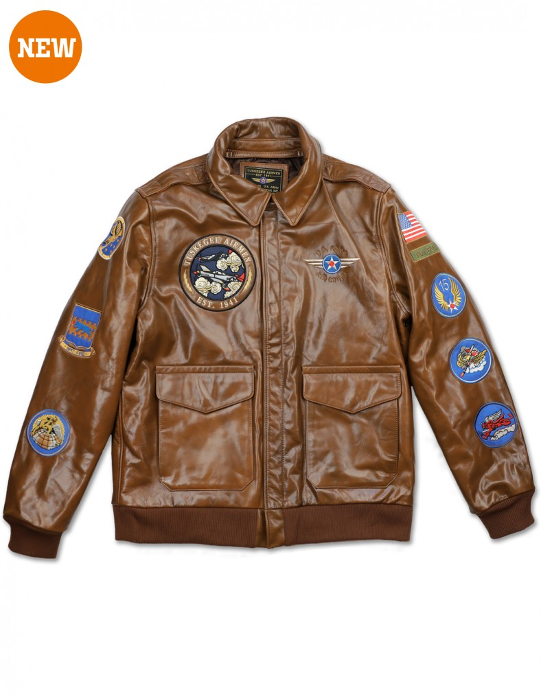 Tuskegee Airmen apparel Leather Jacket LIMITED EDITION OF 200