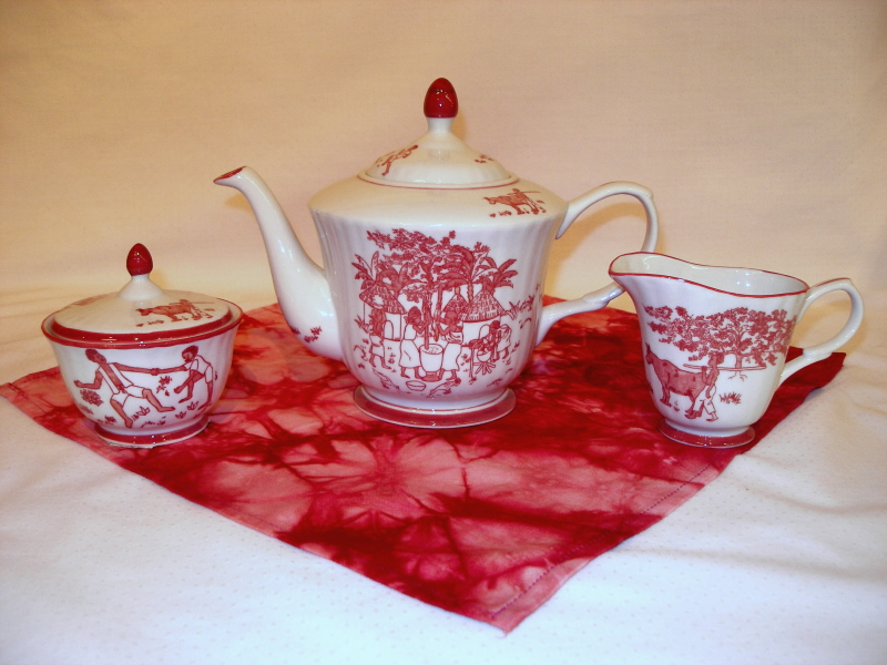 Buy Now · Liberian Tea pot set with creamer and sugar bowl-Cranberry Red & Dinnerware Sets
