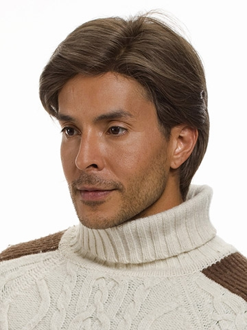 Apollo Men's Monofilament Human Hair Wig by Wig Pro