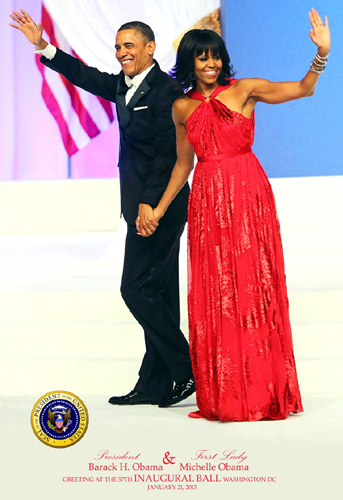 President Barack Obama & First Lady Michelle Obama Gr