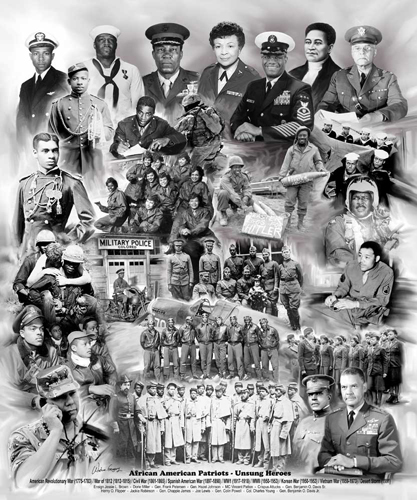 Collectibles - Blacks in the Military by Wishum Gregory - Art Pr