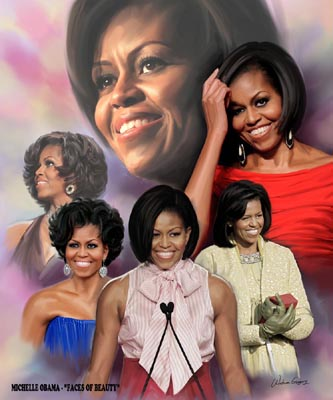 Michelle Obama: Faces of Beauty