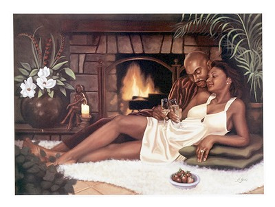 Black Romantic Art - Love