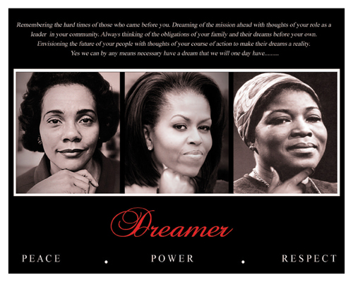 Dreamer (Trio): Peace, Power, Respect by Anon