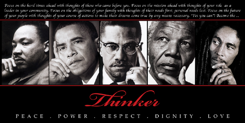 'Black art-Thinker (Quintet): Peace, Power, Respect, Dignity, Lo