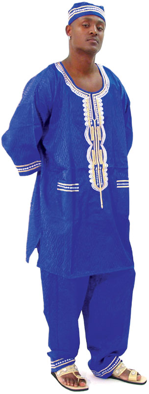 3pc. Embroidered Set - Blue