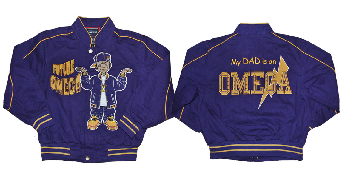 Omega Psi Phi apparel Kids Twill Jacket