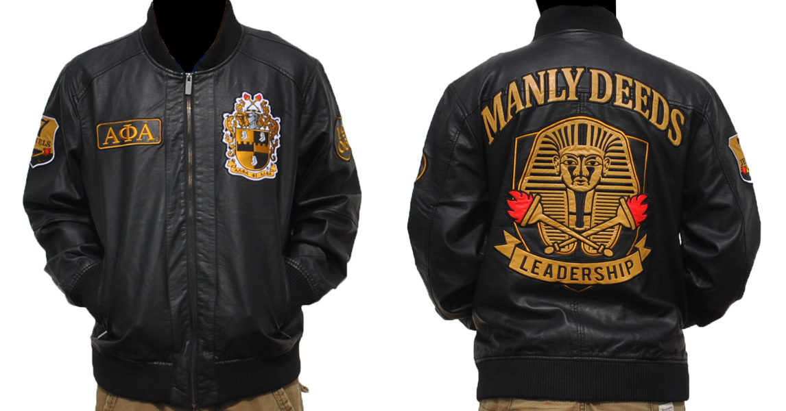 Alpha Phi Alpha apparel-PU Leather Jacket